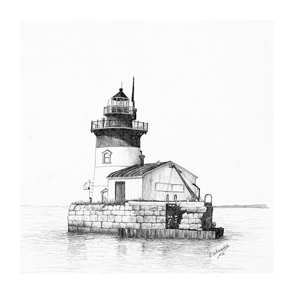 Lighthouse on Detroit River & Erie