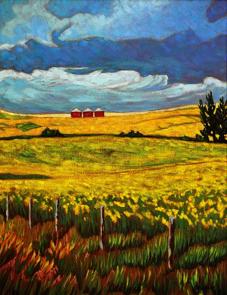 Alberta landscapes and BC Coastal seascapes show the vast skylines of these wide open places. Sherry Nielsen sells prints and originals filled with colour and excitement.