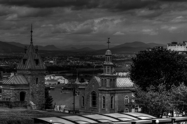 Black and White Fine Art Photographs of Downtown Quebec by Michael Pucciarelli