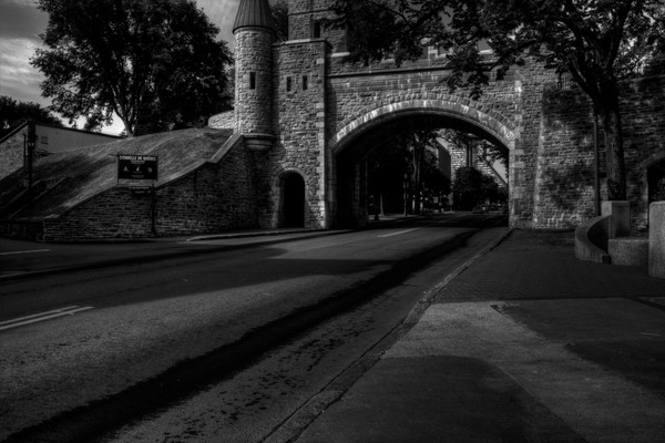 Fine Art Black and White Photograph of Les Fortifications by Michael Pucciarelli