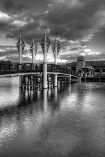 Fine Art Black and White Photographs of Gaithersburg Townsquare by Michael Pucciarelli