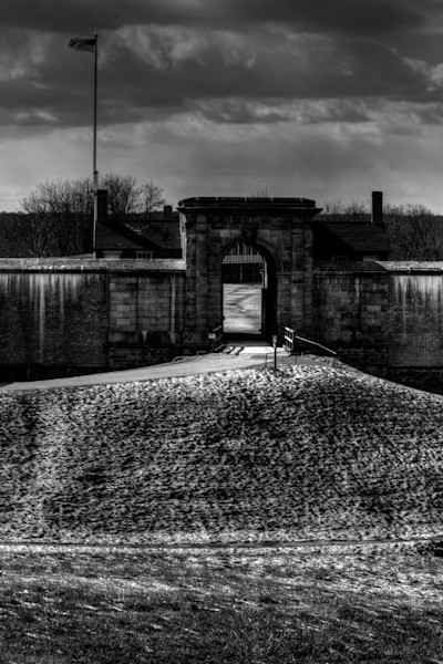 A Black and White Fine Art Photograph of Fort Washington by Michael Pucciarelli