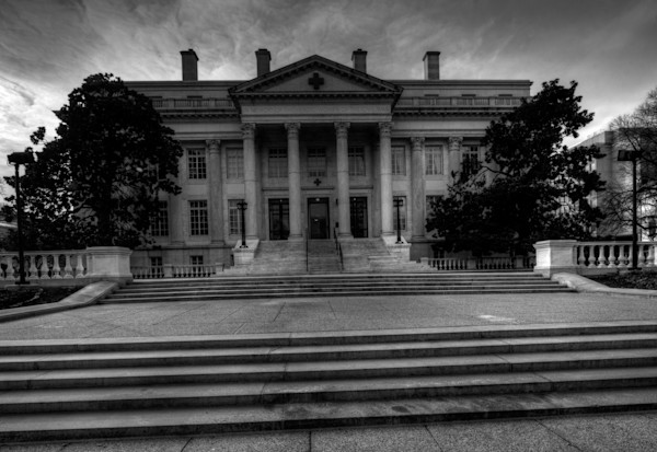 Fine Art Black and White Photograph of Red Cross in Washington DC by Michael Pucciarelli