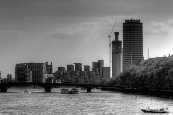 Westminster Fine Art Black and White Photograph by Michael Pucciarelli