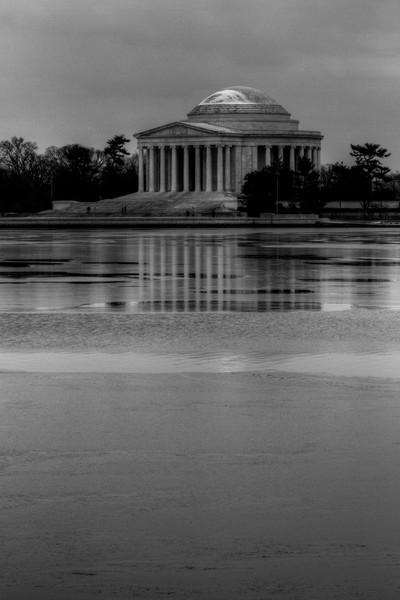Fine Art Black and White Photograph of Jefferson Memorial by Michael Pucciarelli