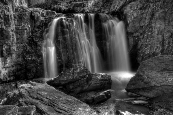 A Black and White Fine Art Photograph of Kilgore Falls by Michael Pucciarelli