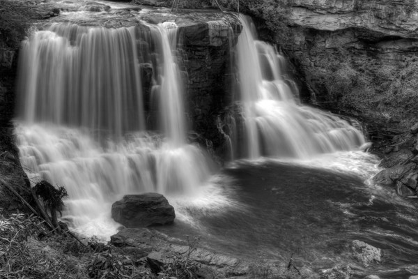 Blackwater Falls Fine Art Black and White Photographs by Michael Pucciarelli