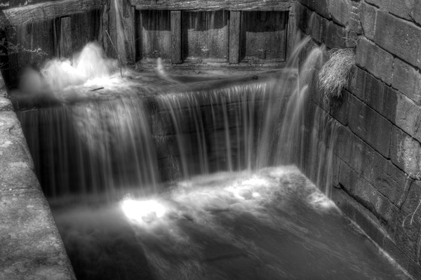 Fine Art Black and White Photograph of Great Falls Waterfalls by Michael Pucciarelli