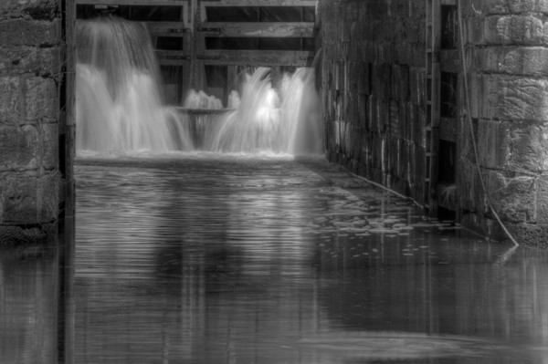 Waterfalls of Great Falls Fine Art Black and White Photographs by Michael Pucciarelli