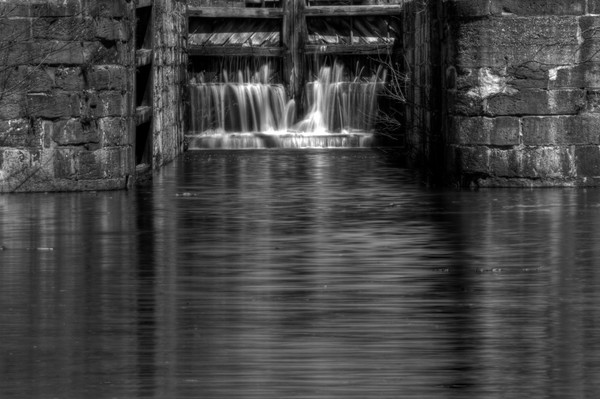 Fine Art Black and White Photographs of Great Falls Waterfalls by Michael Pucciarelli