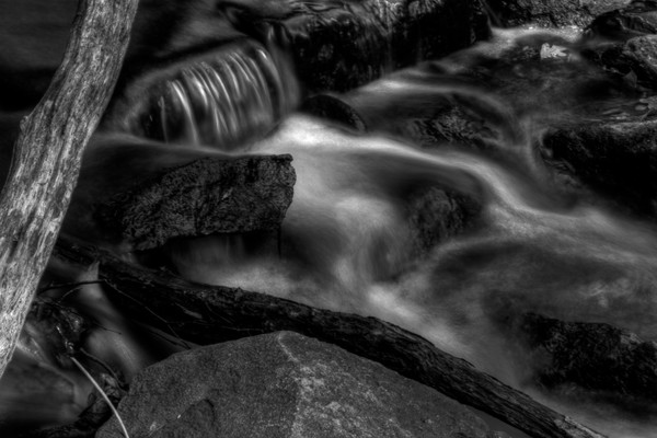 Fine Art Black and White Photograph of the Billy Goat Trail Great Falls by Michael Pucciarelli