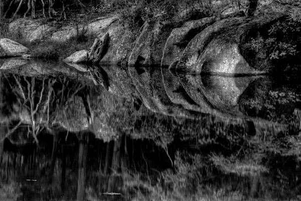 Fine Art Black and White Photographs of Great Falls Reflections by Michael Pucciarelli