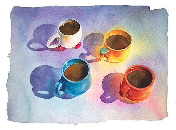 Marlies Merk Najaka uses her stunning watercolor style to create light airy still lifes.