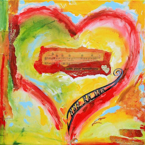 MUSICAL HEART ART COLLECTION prints and canvas for sale by debbie arambula