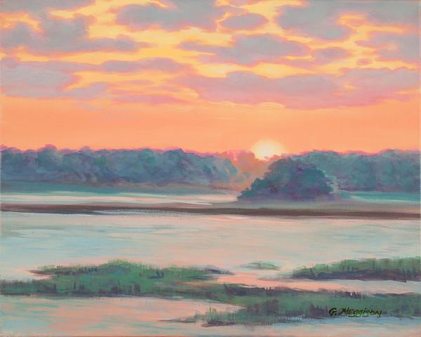 Sunset on Amelia River | Academic Workshop Demos | Gordon Meggison IV