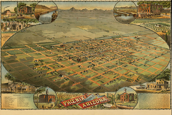 Phoenix Arizona 1885 Map