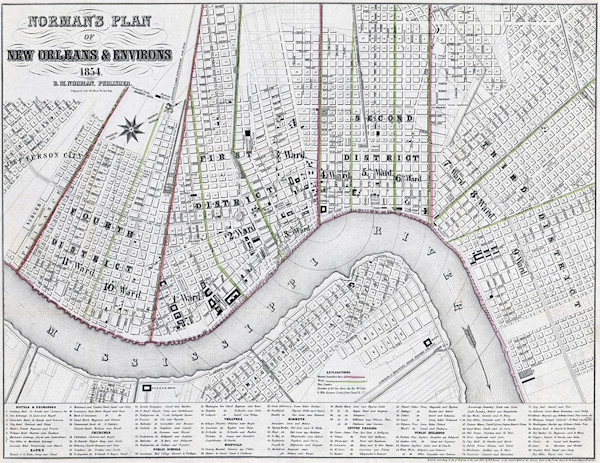 Plans of New Orleans 1854