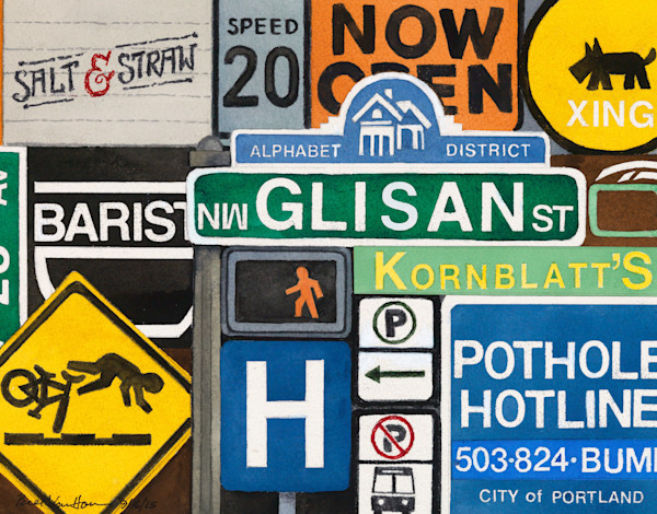 Signs of Portland - Alphabet District