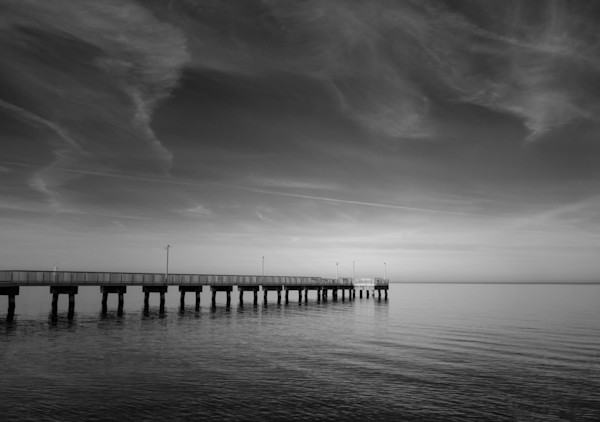 End of the Pier Limited Edition Signed Landscape Photograph by Melissa Fague