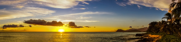 Aloha Sunset Fine Art Photograph hawaii beach Landscape