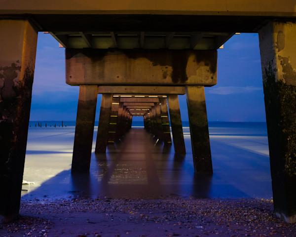 Under The Pier Limited Edition Signed Fine Art Landscape Photograph by Melissa Fague