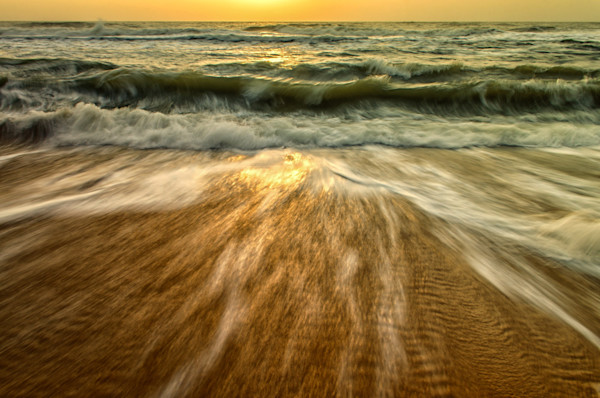 Washing Out to Sea Limited Edition Signed Fine Art Nature Photograph by Melissa Fague