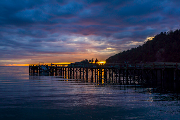 Fine Art Photograph Landscape Sunset Ocean Pier