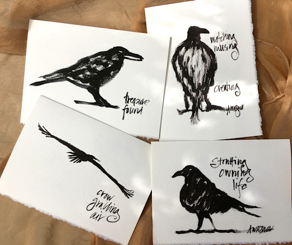 Raven Talk Greeting Card Set