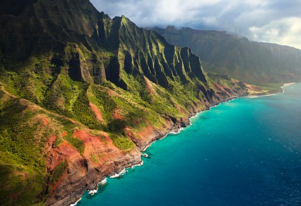 Napali coastline tropical Kauai Photography