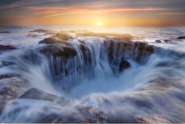 Thors Well, Oregon Coast Photograph