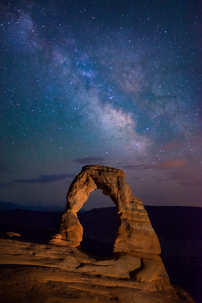 Photographs Delicate Arch Milky Way