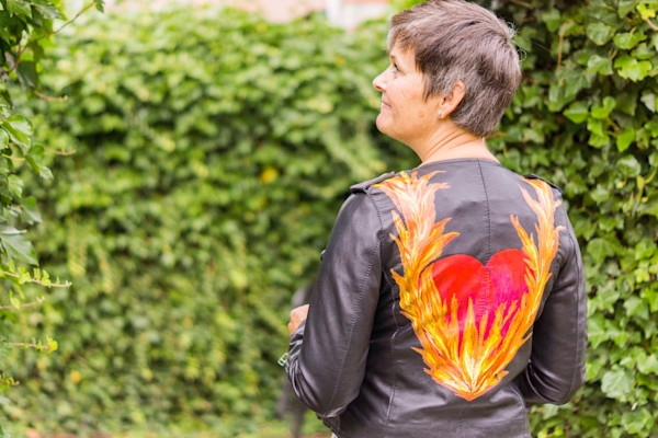 """My Heart Is On Fire"" Jacket by Rebecca Siccama 
