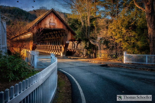 Vermont covered bridge scenic landscape art prints