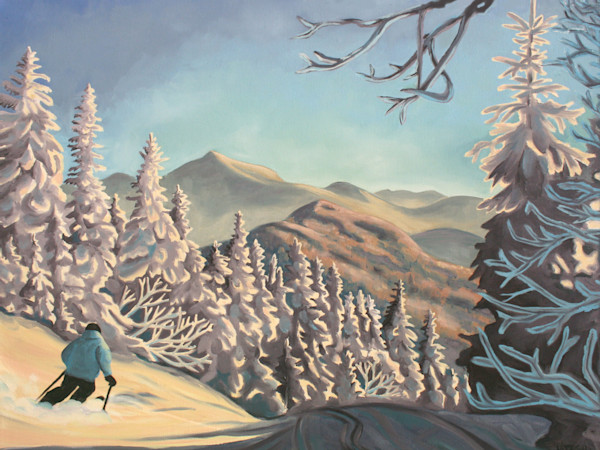 Skiing Art by Natasha Bogar - Original Paintings and Fine Art Prints