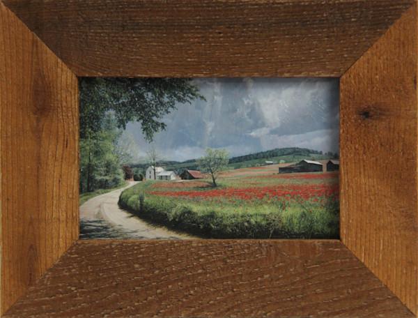 Thunder Mountain Poppies Micro Mini Art Print Framed For Sale Enhanced