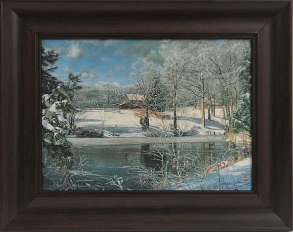 Whitakers Pond Mini Canvas Transfer Mini Art Print Framed for Sale