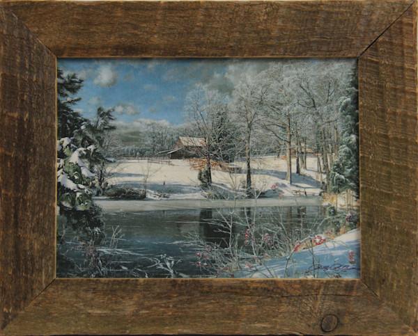 Whitakers Pond Mini Enhanced Canvas Transfer Art Print Framed for Sale