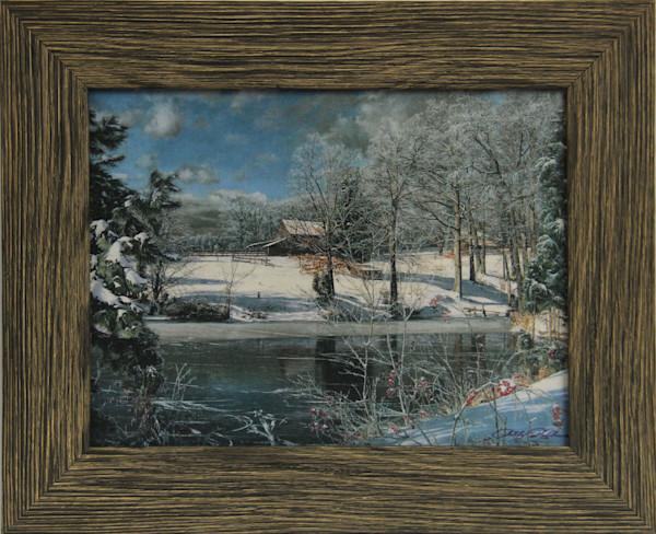 """Whitaker's Pond"" Mini Canvas Transfer Framed and Enhanced"