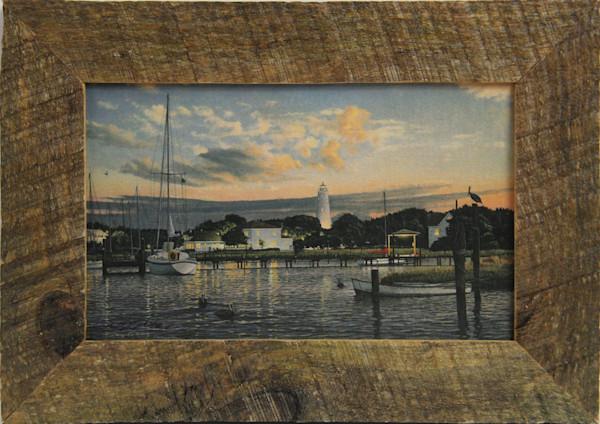 Ocracoke Memories Mini Canvas Transfer Art Print Framed for Sale