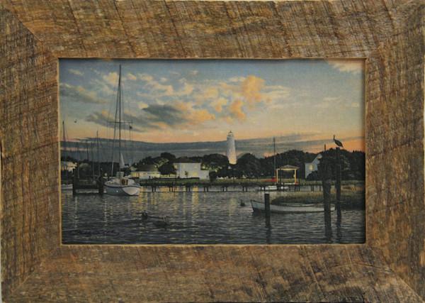 Ocracoke Memories Mini Canvas Transfer Art Print Rustic Framed for Sale
