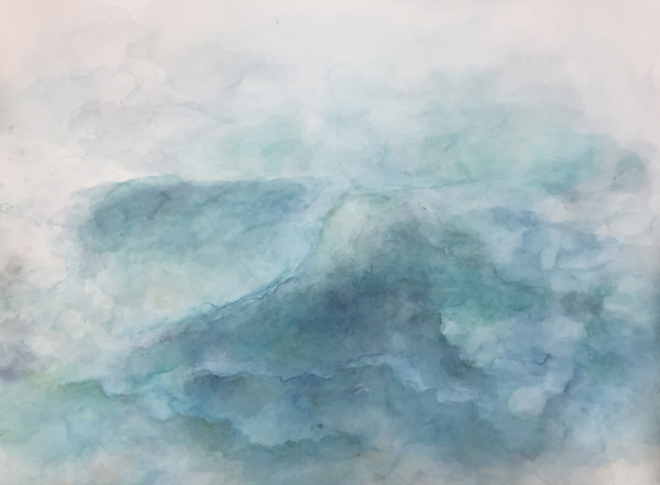 Calm Seas - Abstract Landscape Painting | Samantha Kaplan