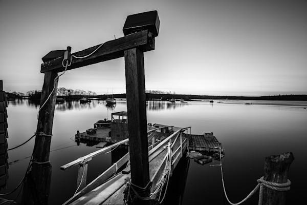 Fine Art Photograph - Black & White Harbor