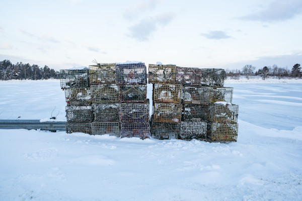 Fine Art Photograph - Snowy Lobster Traps