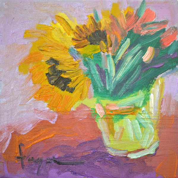 Sunflowers Bouquet Fine Art Print by Dorothy Fagan