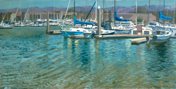 landscape, Berkeley, art, painting, sailboats, marina