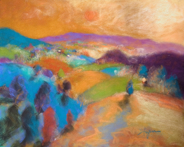 Dream Valley | Mountain Landscape Print by Dorothy Fagan
