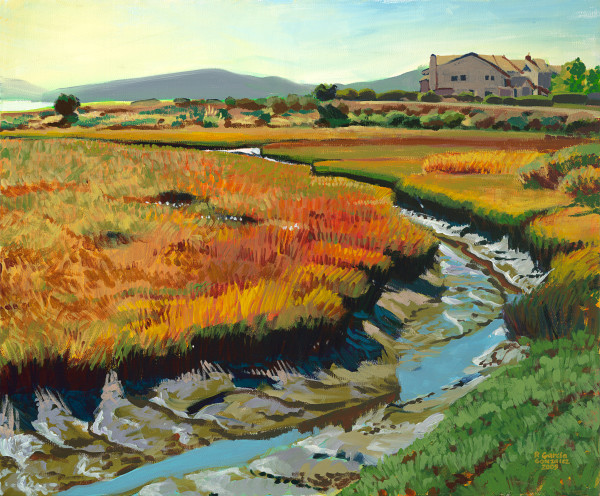 art, landscape, painting, Meeker, watershed