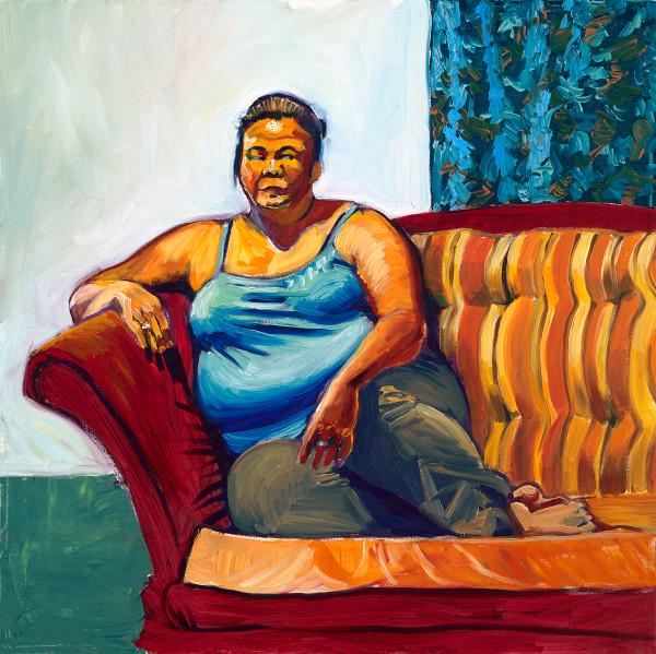 Art, portrait, painting, fat, woman