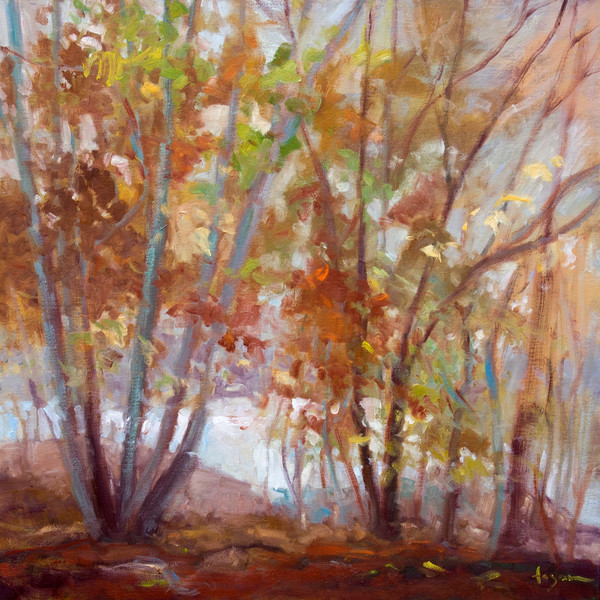 October Song | Autumn Trees Fine Art Print on Canvas