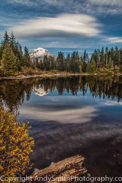 fine art photograph of Fall Reflection of Mt Hood